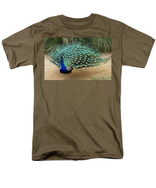 Peacock Showing All Feathers Men's T-Shirt  (Regular Fit) by Patricia Barmatz