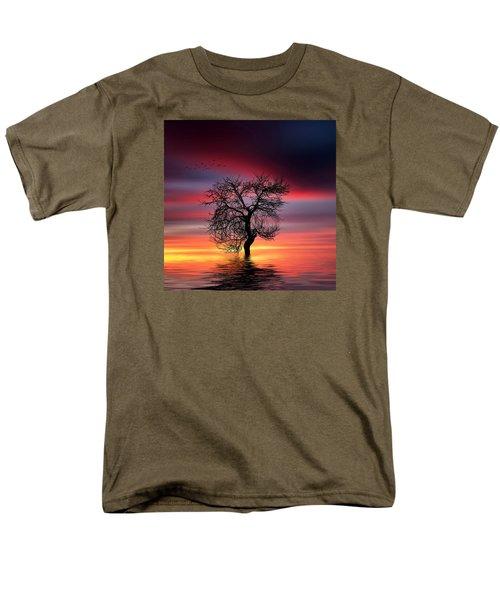 Pear On Lake Men's T-Shirt  (Regular Fit) by Bess Hamiti