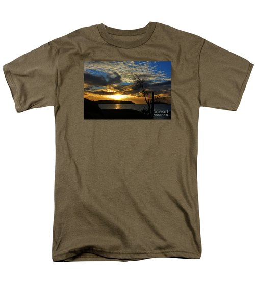 Pebbles  Beach Sechelt  Men's T-Shirt  (Regular Fit) by Elaine Hunter