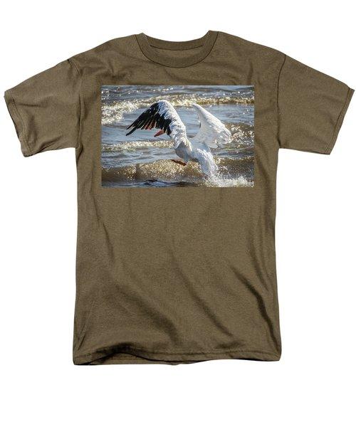 Pelican Jump Men's T-Shirt  (Regular Fit) by Ray Congrove