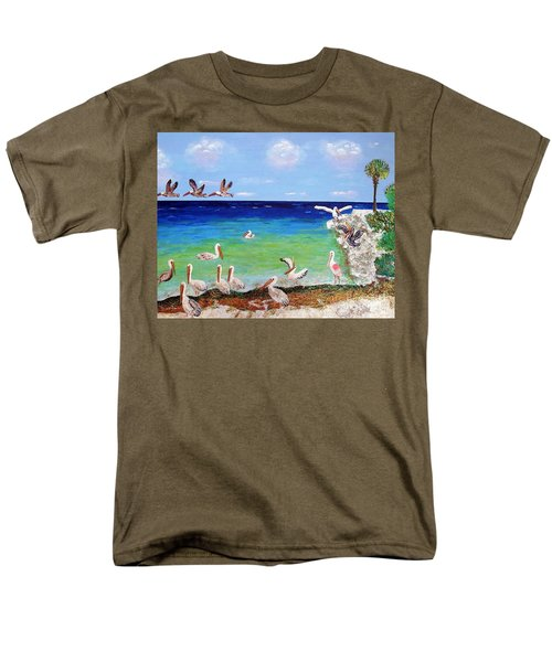 Pelicans Men's T-Shirt  (Regular Fit) by Vicky Tarcau