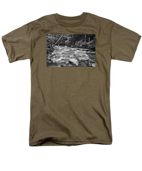Pemi River Black-white Men's T-Shirt  (Regular Fit) by Michael Hubley