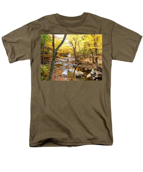 Pemigwasett River At The Flume Men's T-Shirt  (Regular Fit) by Catherine Gagne