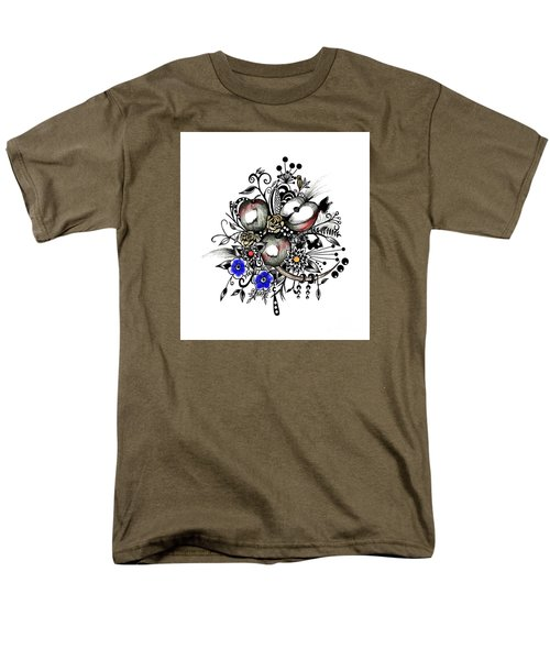 Men's T-Shirt  (Regular Fit) featuring the drawing Pen And Ink Drawing Apples Wall Decor  by Saribelle Rodriguez