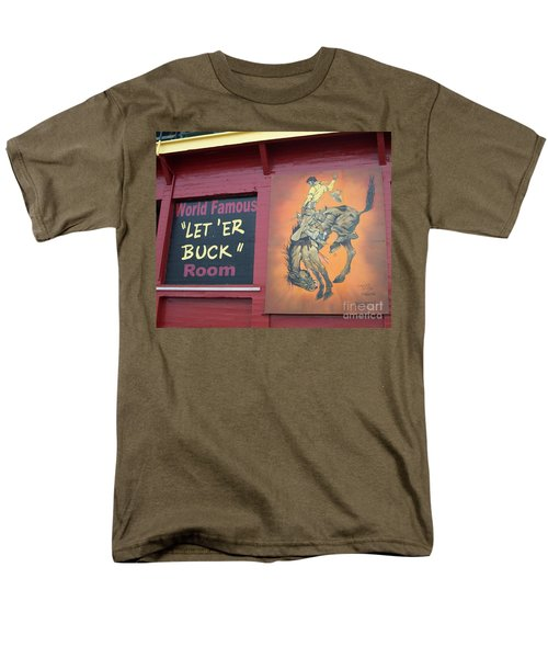 Pendleton Round Up Mural Men's T-Shirt  (Regular Fit) by Chalet Roome-Rigdon