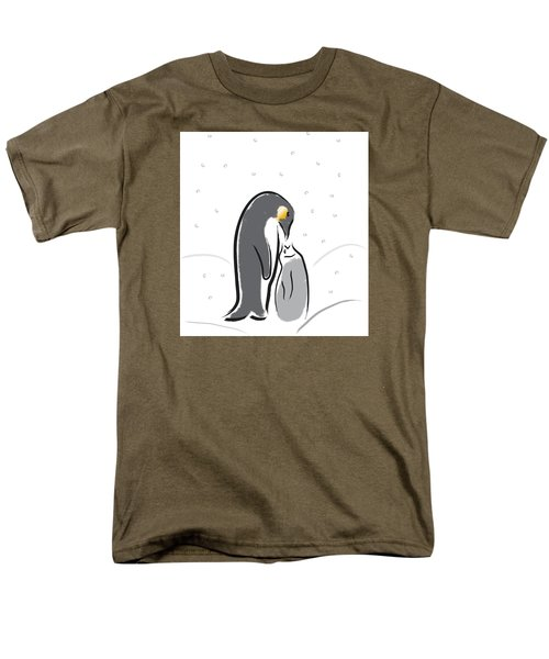 Penguin Feeding Men's T-Shirt  (Regular Fit) by Greg Slocum