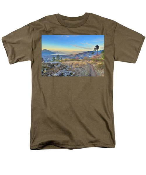 Men's T-Shirt  (Regular Fit) featuring the photograph Penticton In The Distance by Tara Turner