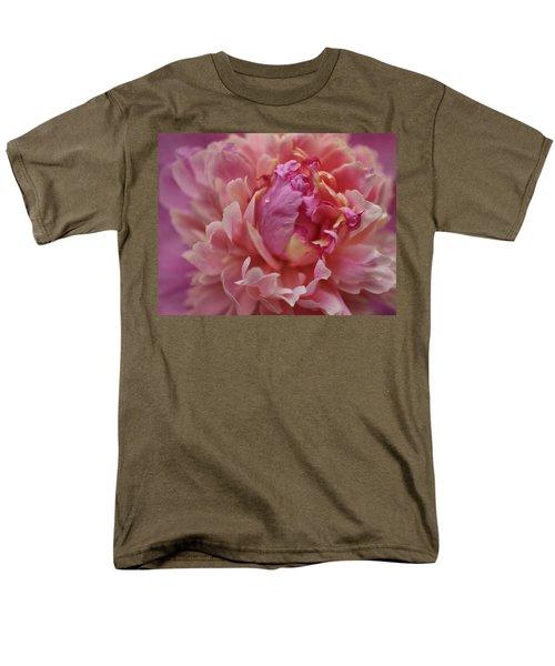 Peony Opening Men's T-Shirt  (Regular Fit) by Sandy Keeton
