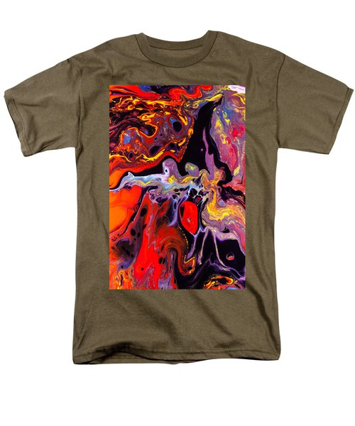 People - Abstract Colorful Mixed Media Painting Men's T-Shirt  (Regular Fit) by Modern Art Prints