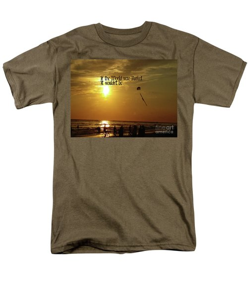 Perfect World Men's T-Shirt  (Regular Fit) by Gary Wonning