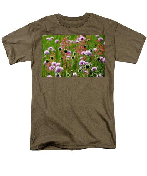 Perky Chives Men's T-Shirt  (Regular Fit) by Betsy Zimmerli