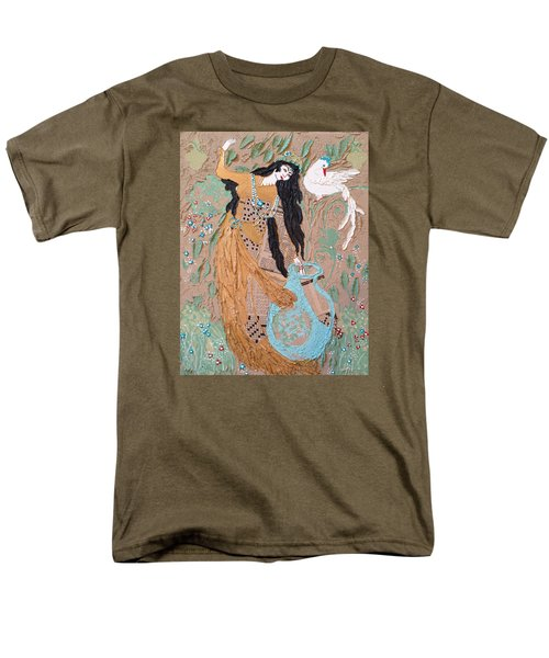 Men's T-Shirt  (Regular Fit) featuring the painting Persian Painting 3d by Sima Amid Wewetzer