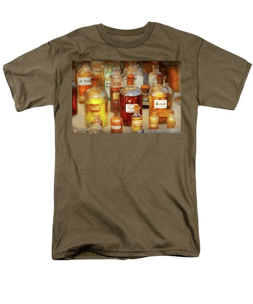 Men's T-Shirt  (Regular Fit) featuring the photograph Pharmacy - Serums And Elixirs by Mike Savad