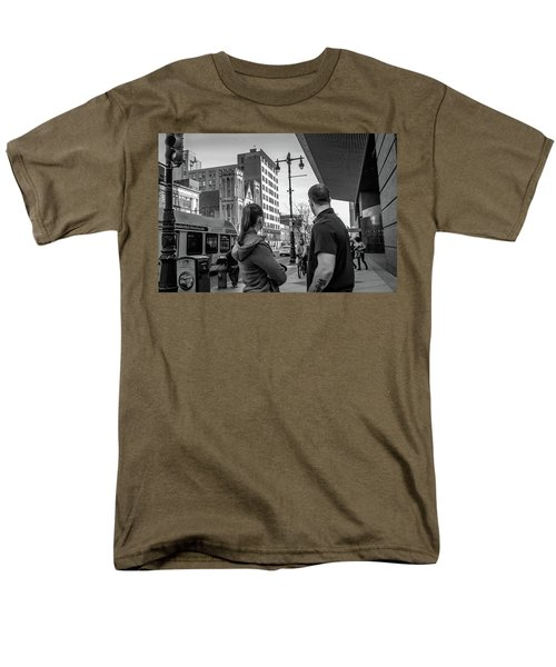 Men's T-Shirt  (Regular Fit) featuring the photograph Philadelphia Street Photography - Dsc00248 by David Sutton