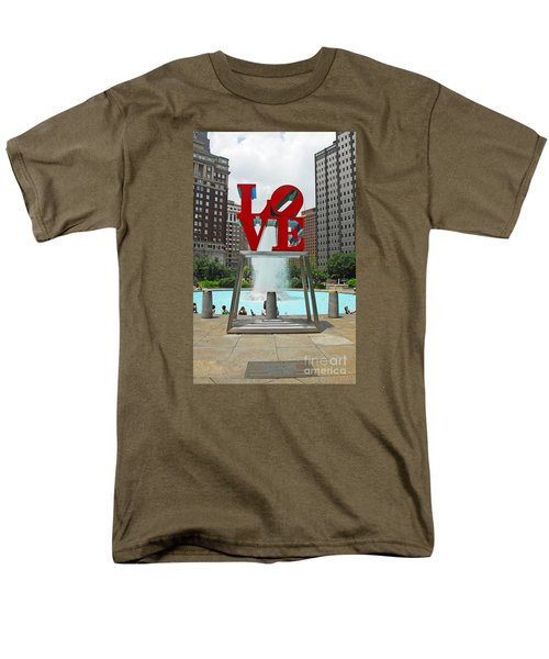Philadelphia's Love Park Men's T-Shirt  (Regular Fit) by Cindy Manero