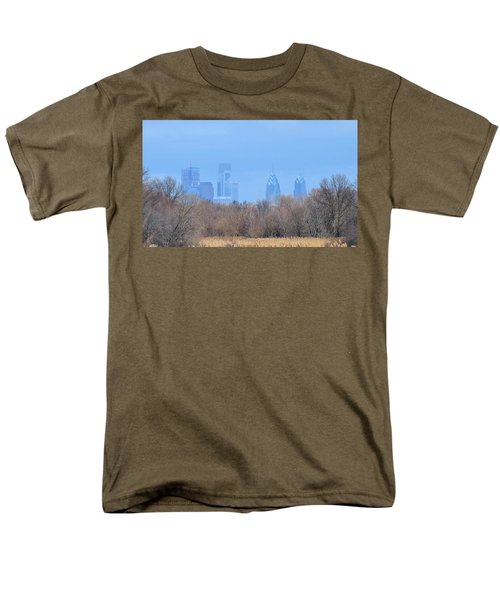 Philly From Afar Men's T-Shirt  (Regular Fit) by Kathy Eickenberg