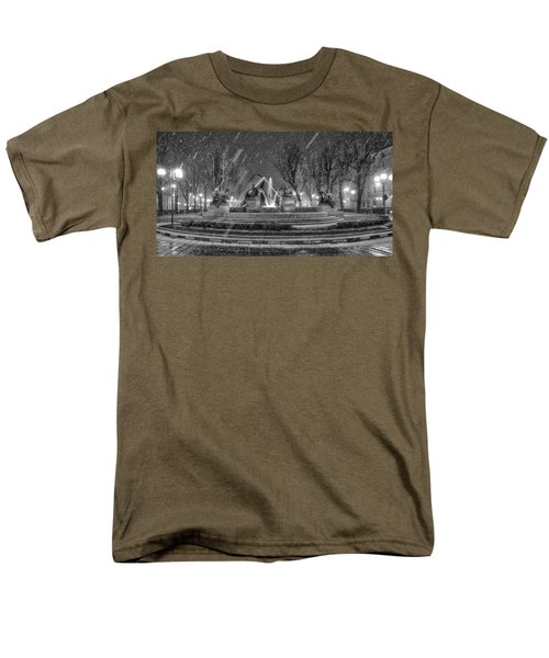 Men's T-Shirt  (Regular Fit) featuring the photograph Piazza Solferino In Winter-1 by Sonny Marcyan