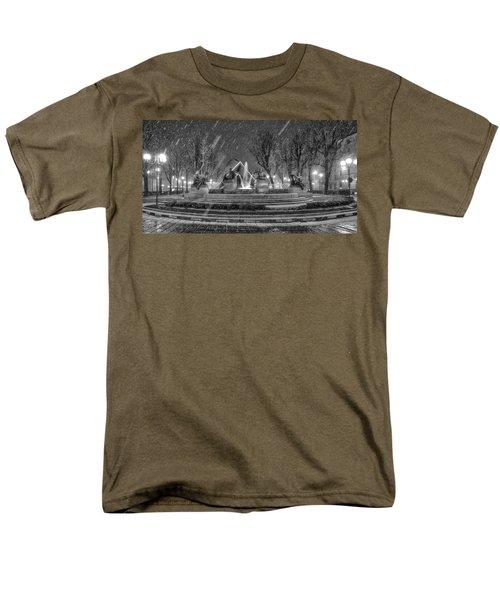Piazza Solferino In Winter-1 Men's T-Shirt  (Regular Fit) by Sonny Marcyan