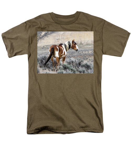Picasso - Wild Mustang Stallion Of Sand Wash Basin Men's T-Shirt  (Regular Fit) by Nadja Rider