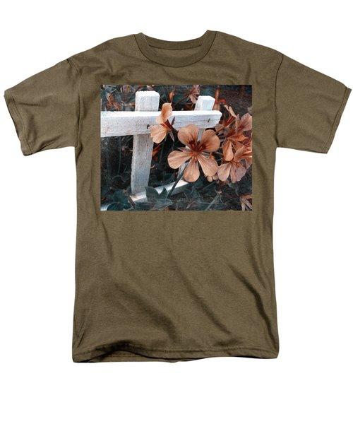 Picket Fence Blooms Men's T-Shirt  (Regular Fit)