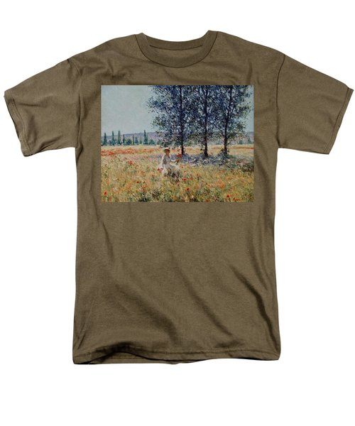 Picking Flowers  Men's T-Shirt  (Regular Fit) by Pierre Van Dijk