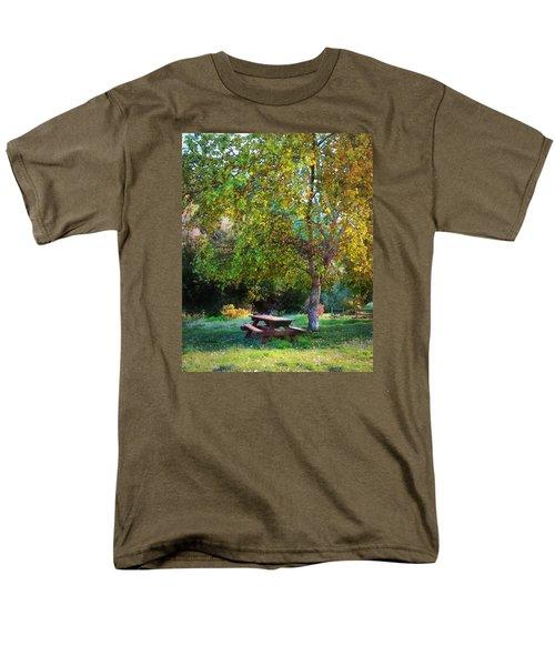 Picnic Table Men's T-Shirt  (Regular Fit) by Timothy Bulone
