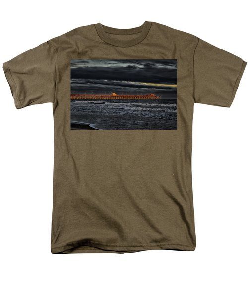 Men's T-Shirt  (Regular Fit) featuring the photograph Pier Into Darkness by Kelly Reber