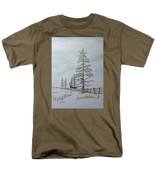 Pine Tree Gate Men's T-Shirt  (Regular Fit) by Jack G  Brauer