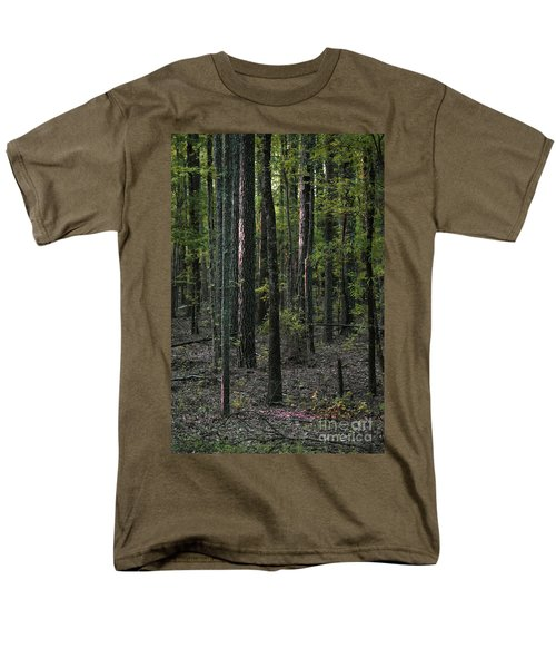 Men's T-Shirt  (Regular Fit) featuring the photograph Pine Wood Sunrise by Skip Willits