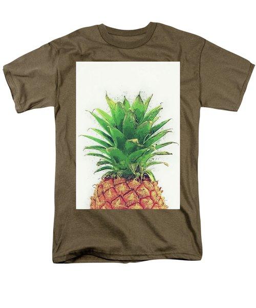 Men's T-Shirt  (Regular Fit) featuring the digital art Pineapple by Taylan Apukovska