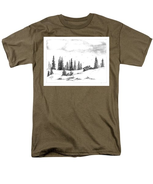 Pinetree Cabin Men's T-Shirt  (Regular Fit) by Terri Mills
