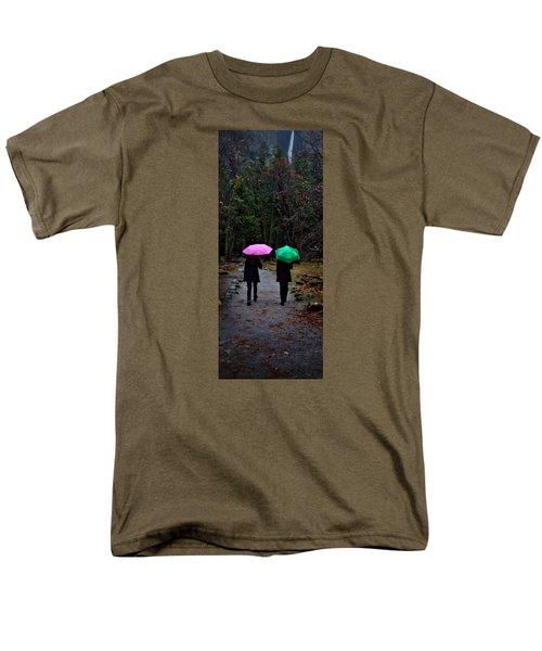 Pink And Green Men's T-Shirt  (Regular Fit) by Josephine Buschman
