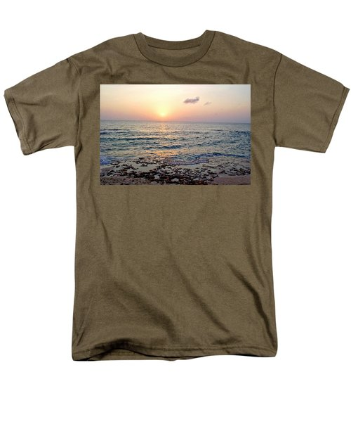 Men's T-Shirt  (Regular Fit) featuring the photograph Pink And Purple Sunset Over Grand Cayman by Amy McDaniel