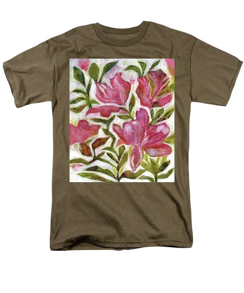 Men's T-Shirt  (Regular Fit) featuring the painting Pink Azaleas by Julie Maas