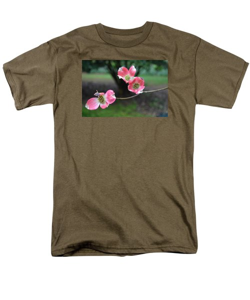 Men's T-Shirt  (Regular Fit) featuring the photograph Pink Dogwood by Linda Geiger