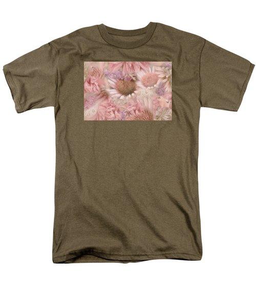 Pink Floral Montage Men's T-Shirt  (Regular Fit) by Bonnie Bruno