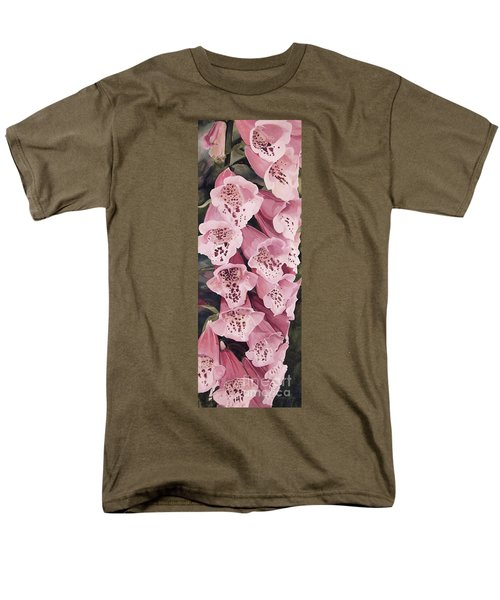 Pink Foxglove Men's T-Shirt  (Regular Fit) by Laurie Rohner