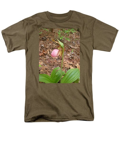 Men's T-Shirt  (Regular Fit) featuring the photograph Pink Lady's-slipper by Linda Geiger