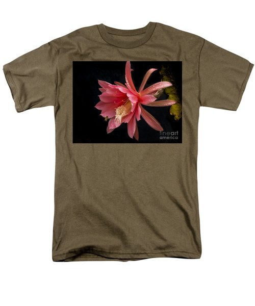Pink Orchid Cactus Flower Men's T-Shirt  (Regular Fit) by Inge Riis McDonald