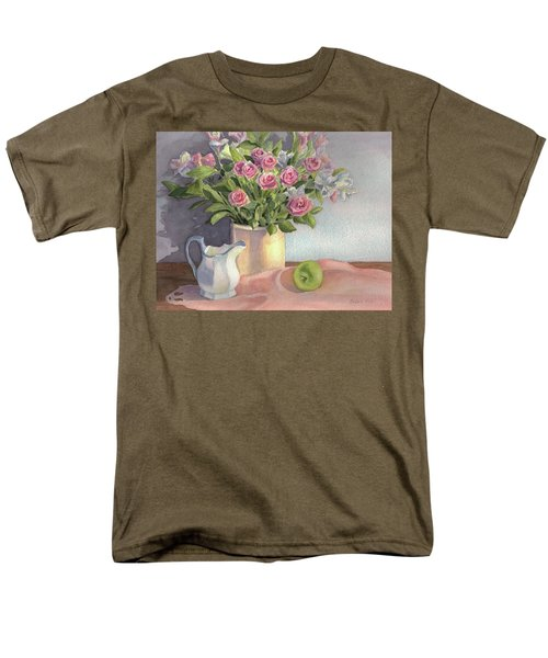 Pink Roses Men's T-Shirt  (Regular Fit) by Vikki Bouffard