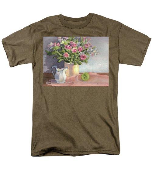 Pink Roses Men's T-Shirt  (Regular Fit)