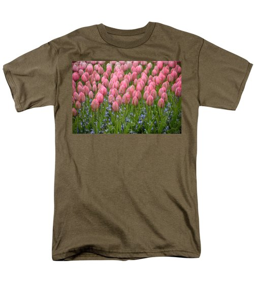 Pink Tulips Men's T-Shirt  (Regular Fit) by Phyllis Peterson