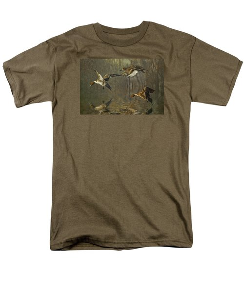 Men's T-Shirt  (Regular Fit) featuring the photograph Pintail Ducks by Brian Tarr