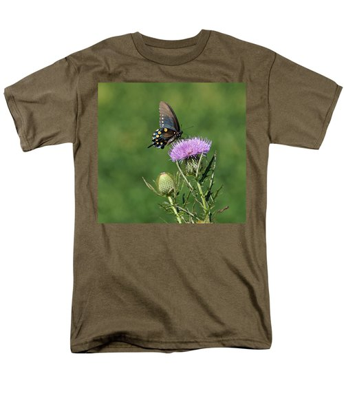 Men's T-Shirt  (Regular Fit) featuring the photograph Pipevine Swallowtail by Sandy Keeton
