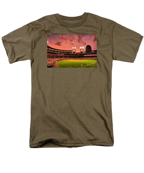 Men's T-Shirt  (Regular Fit) featuring the digital art Piscotty In Left Field by William Fields