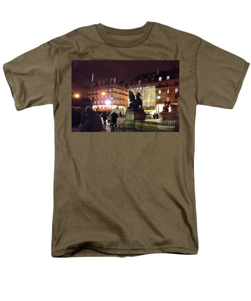 Men's T-Shirt  (Regular Fit) featuring the photograph Place Saint-michel by Felipe Adan Lerma