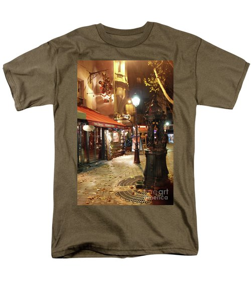 Place St Michel To Rue Saint-andre Des Arts Men's T-Shirt  (Regular Fit) by Felipe Adan Lerma