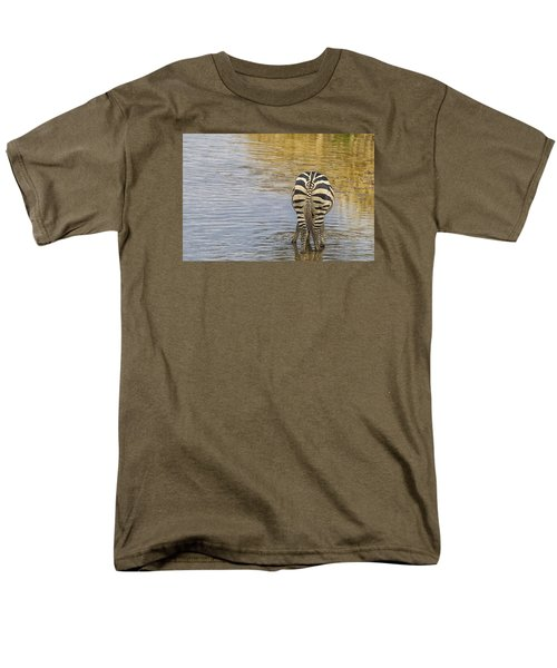 Plains Zebra Men's T-Shirt  (Regular Fit) by Kathy Adams Clark