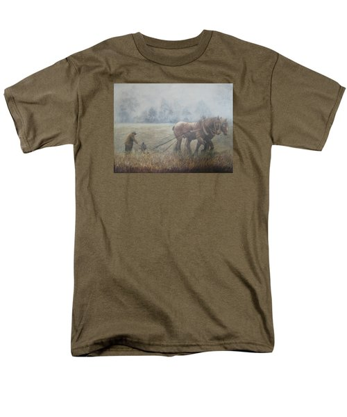 Plowing It The Old Way Men's T-Shirt  (Regular Fit) by Donna Tucker