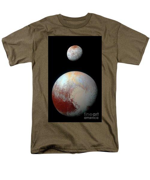 Pluto And Charon Men's T-Shirt  (Regular Fit) by Nicholas Burningham
